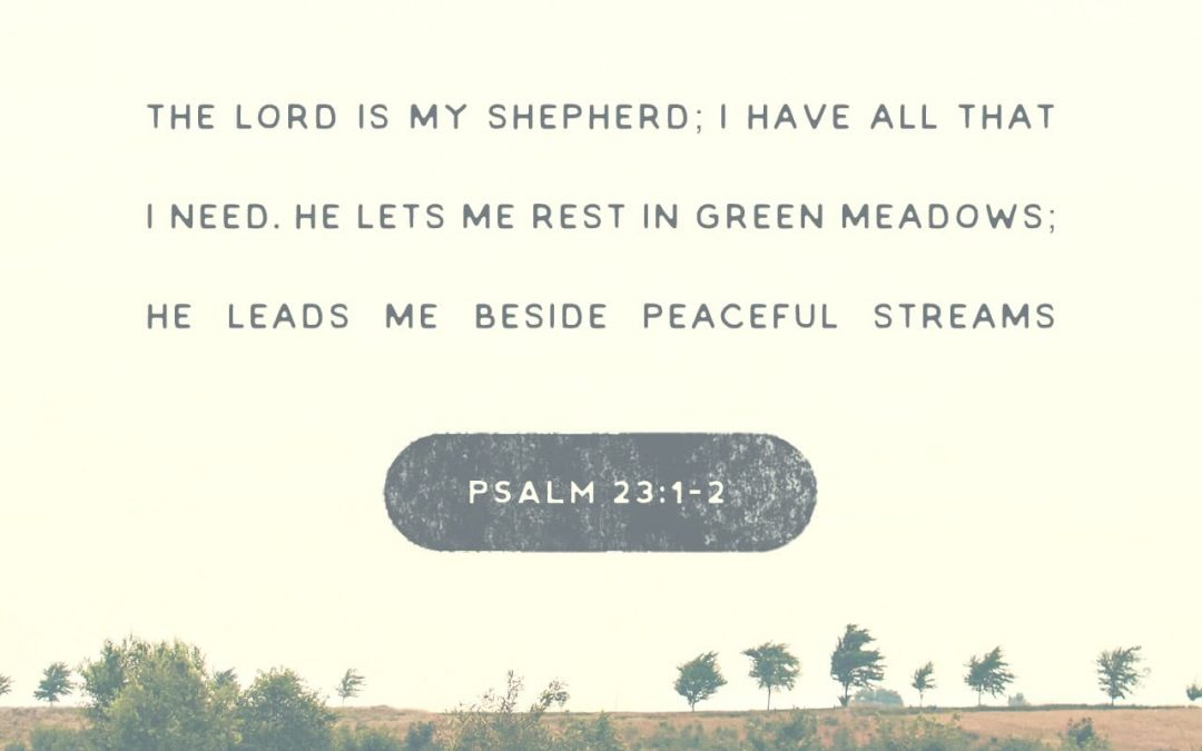 He makes me lie down in green pastures